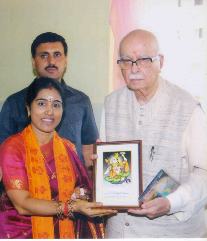 Shri L. K. Advani with Amma